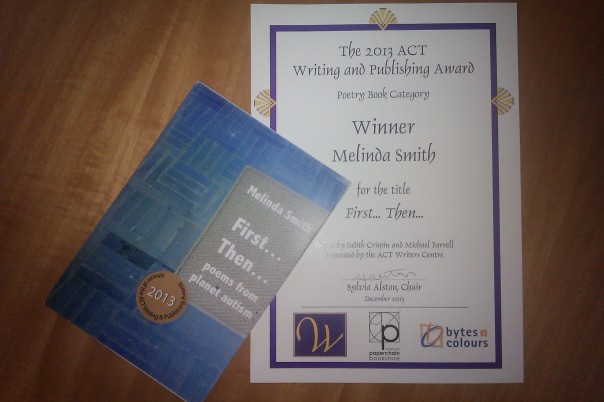 Image of award certificate and book sticker